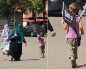 Zenica: Boy with Islamic State Flag